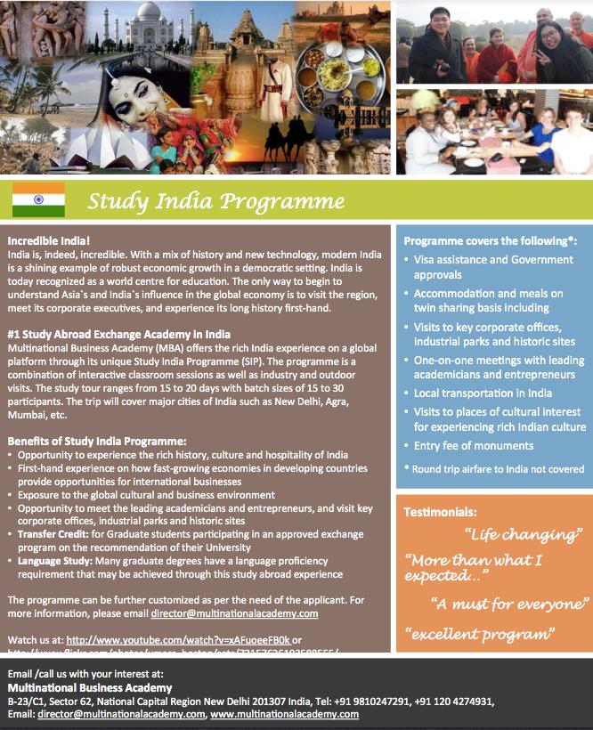 Study India Brochure